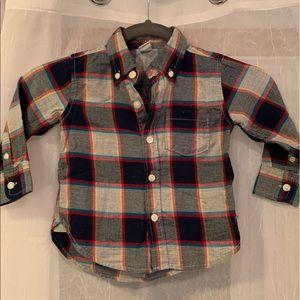 NWOT Gap Plaid Shirt - Size 18-24M